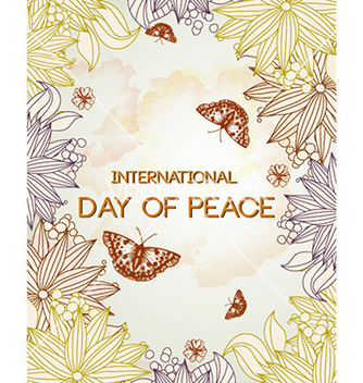 Free international day of peace vector - бесплатный vector #228643