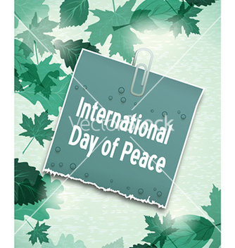 Free international day of peace with sticker vector - бесплатный vector #228683