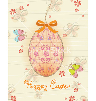 Free egg with butterflies vector - vector #228723 gratis