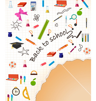 Free back to school vector - бесплатный vector #228983