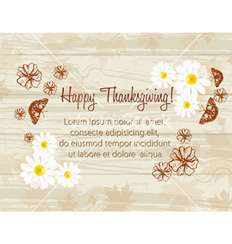 Free happy thanksgiving day with butterflies vector - Free vector #229063