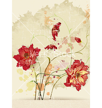 Free background with floral vector - Free vector #229323
