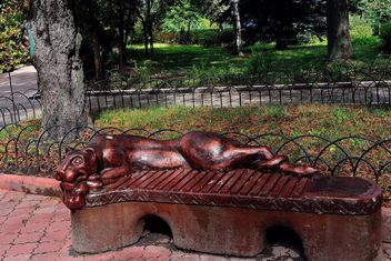 Sculptural bench - Free image #229393