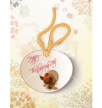 Free happy thanksgiving day with turkey vector - бесплатный vector #229983