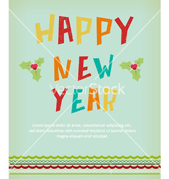 Free happy new year vector - бесплатный vector #230023