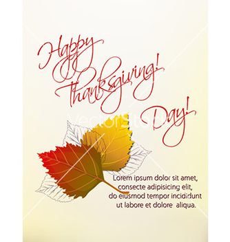 Free happy thanksgiving day vector - Free vector #230213