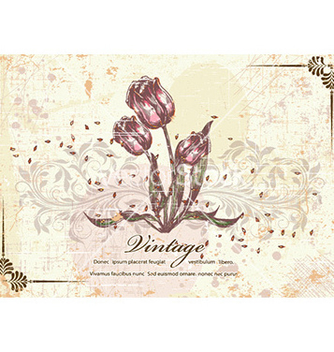 Free floral with grunge vector - Kostenloses vector #230493