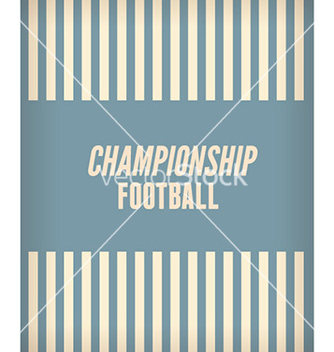 Free football championship flyer vector - Free vector #230823