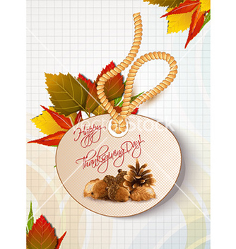 Free happy thanksgiving day with sticker vector - бесплатный vector #230973