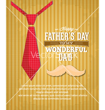 Free fathers day vector - Free vector #231053