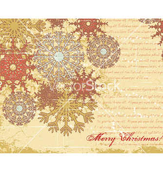 Free christmas with snow flake vector - vector #231243 gratis