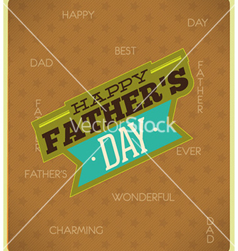 Free fathers day vector - Free vector #231493