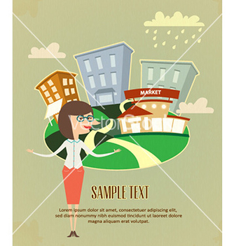 Free company business flyer vector - vector #231613 gratis