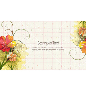 Free grunge floral background vector - vector gratuit #231973
