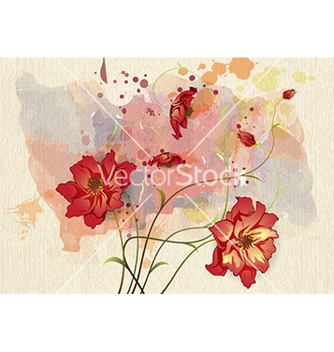 Free watercolor floral background vector - Free vector #232003