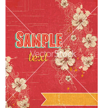 Free retro floral background vector - бесплатный vector #232363