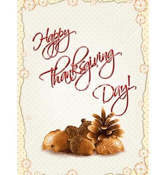 Free happy thanksgiving day with acorns vector - бесплатный vector #232473