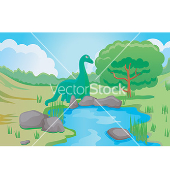 Free cartoon dinosaur vector - vector gratuit #232653