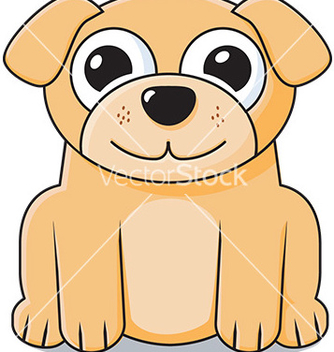 Free cute puppy icon vector - Kostenloses vector #232763