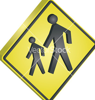 Free pedestrian crossing sign vector - vector gratuit #232783