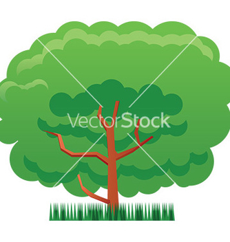 Free cartoon tree vector - бесплатный vector #232933