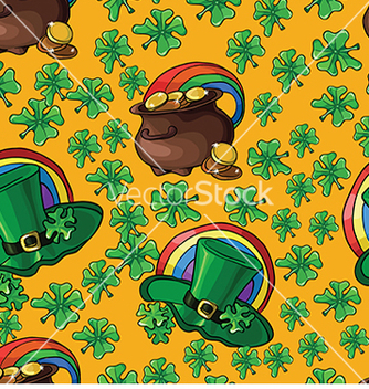 Free seamless background with green leprechaun hats and vector - Free vector #232993