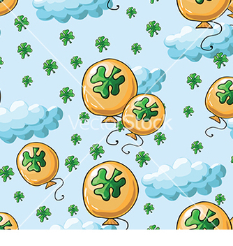 Free pattern with four petal clovers vector - vector #233033 gratis