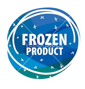 Free round logo for frozen foods with snowflakes vector - vector gratuit #233063