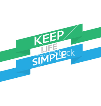 Free keep life simple vector - Free vector #233103