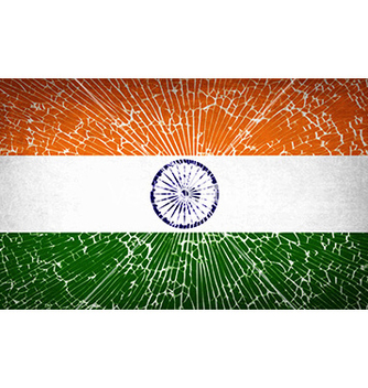 Free flags india with broken glass texture vector - vector gratuit #233113