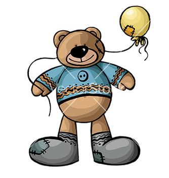Free bear with a ball vector - vector gratuit #233173