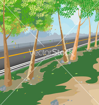 Free road side scene vector - vector gratuit #233223