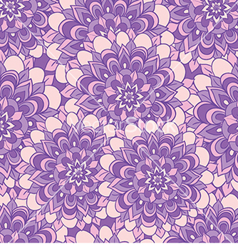 Free beautiful pattern with purple flowers vector - Free vector #233293