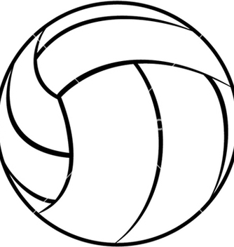 Free a volleyball outline isolated in white background vector - Free vector #233403