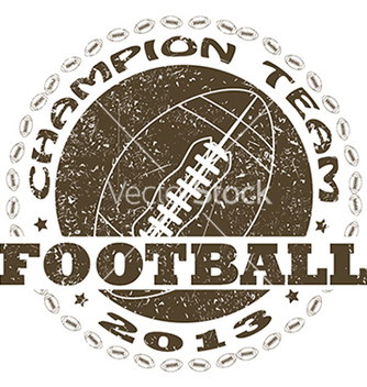 Free football label vector - vector gratuit #233443