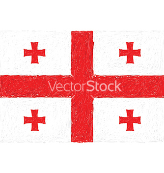 Free hand drawn of flag of georgia vector - Kostenloses vector #233493