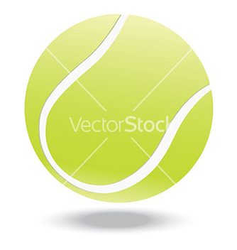 Free tennis ball vector - vector gratuit #233633