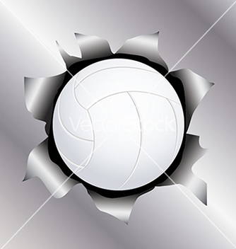 Free volleyball thru metal sheet vector - Free vector #233653