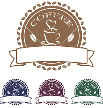 Free coffee label stamp design element vector - vector #233673 gratis