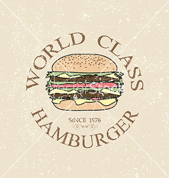 Free world class hamburger label stamp banner design vector - Free vector #233723