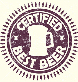 Free vintage purple beer label stamp with text vector - Free vector #233733