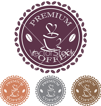 Free coffee label stamp design element vector - vector #233743 gratis