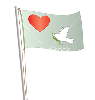 Free love and peace flag vector - Free vector #233753