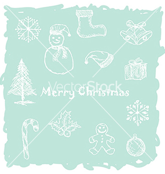 Free hand drawn of white christmas icons elements in vector - Kostenloses vector #233773