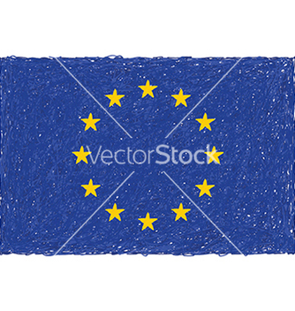 Free hand drawn of flag of european union vector - Free vector #233783