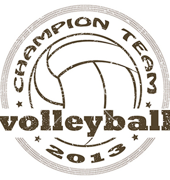 Free volleyball label vector - бесплатный vector #233803