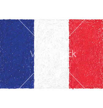 Free hand drawn of flag of france vector - бесплатный vector #233843