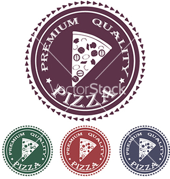 Free premium pizza quality label stamp design element vector - Free vector #233893