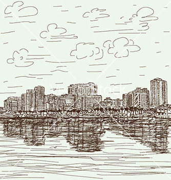 Free handdrawn cityscape vector - Free vector #233903