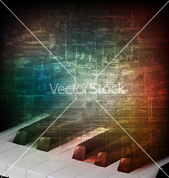 Free abstract music grunge vintage background with vector - Free vector #234013